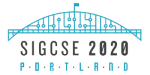 SIGCSE 2020 Logo - Freemont Bridge, Portland, Oregon